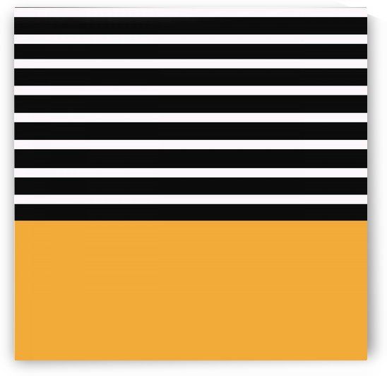Black & White Stripes with Honey Patch by rizu_designs