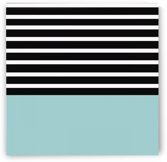 Black & White Stripes with Mist Patch by rizu_designs