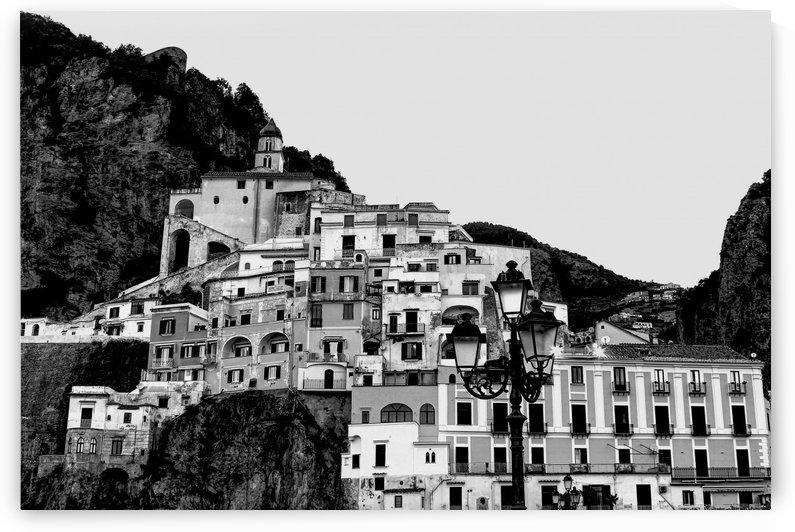Amalfi Village - Black and White  by Bentivoglio Photography