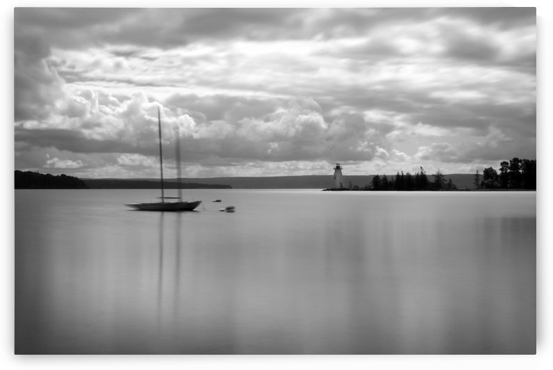 Lone Sailboat by Roman Buchhofer