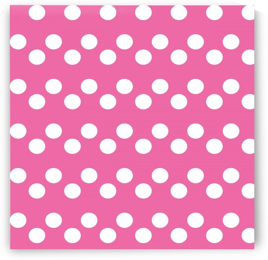 HOT PINK Polka Dots by rizu_designs