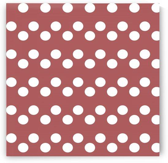 Dusty Cedar Polka Dots by rizu_designs