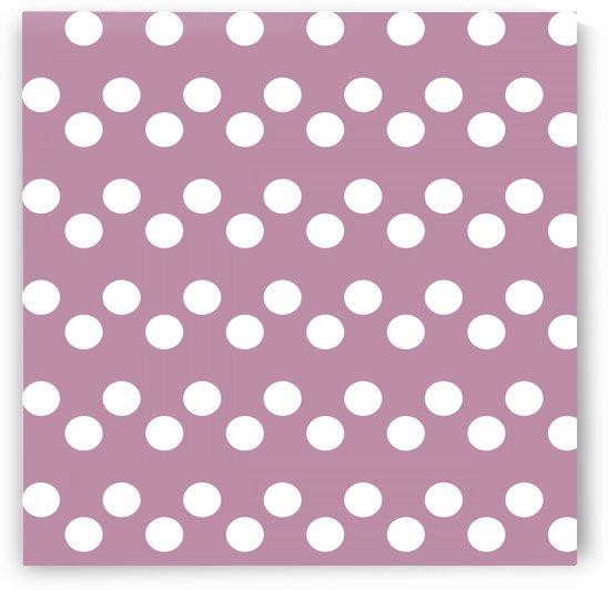 DARK MAUVE Polka Dots by rizu_designs