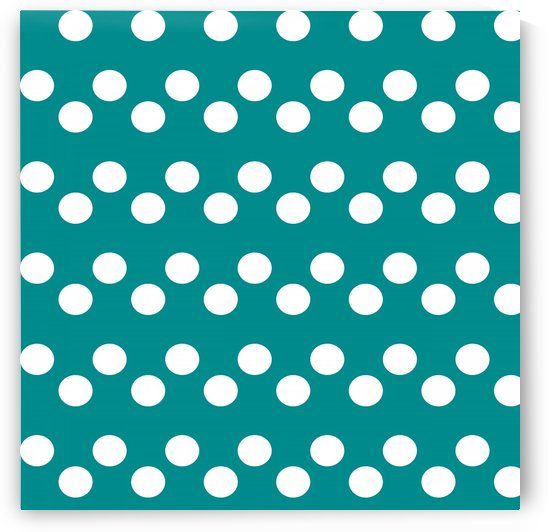 Dark Cyan Polka Dots by rizu_designs