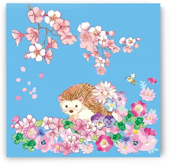 The hedgehog in the flowerbed by Gabriella David