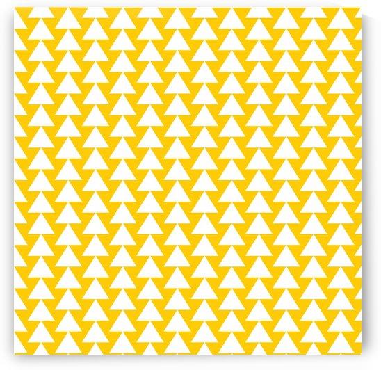 Yellow  White triangle by rizu_designs