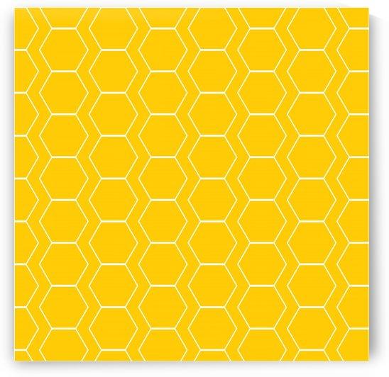 Yellow  White Hexagen by rizu_designs