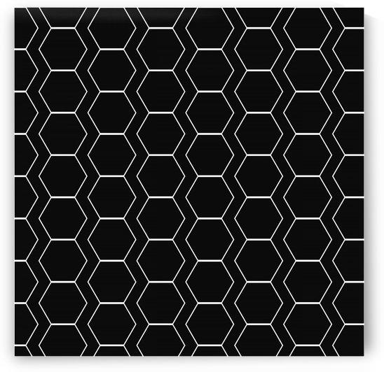 Black  White Hexagen by rizu_designs