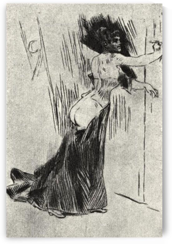 The bolt by Felicien Rops by Felicien Rops