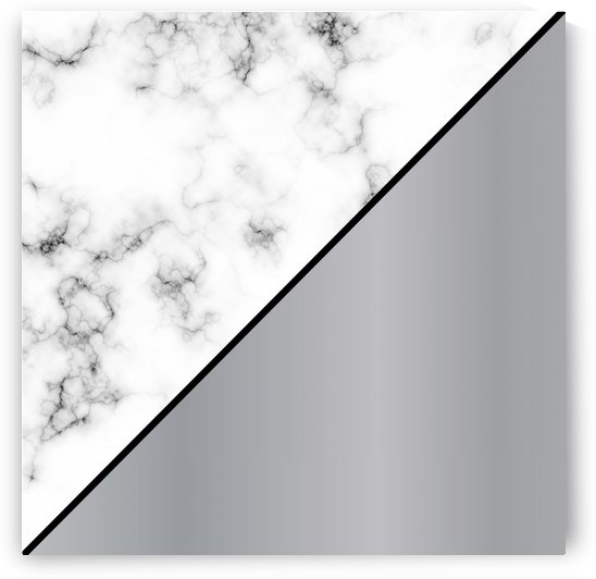 ABSTRACT MODERN SILVER MARBLE by rizu_designs