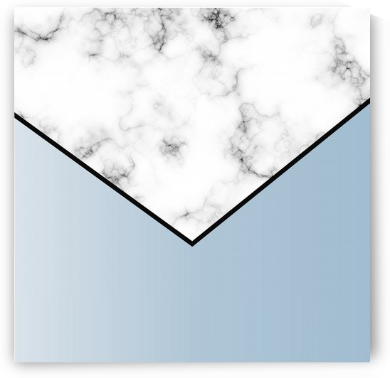 ABSTRACT WINTER BLUE MODERN MARBLE by rizu_designs