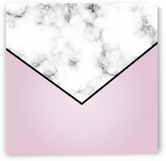 ABSTRACT WINTER PINK MODERN MARBLE by rizu_designs