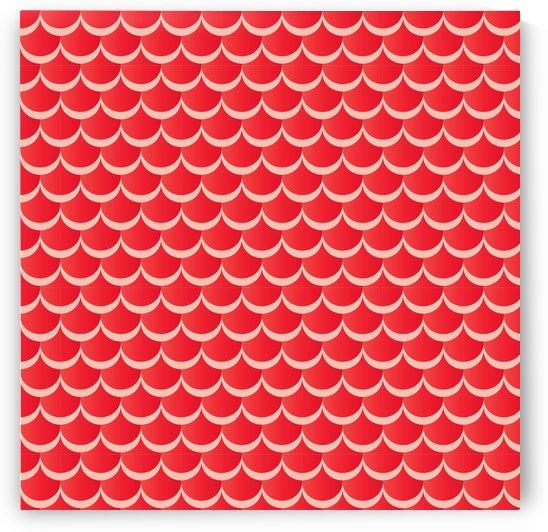 RED MERMAID PATTERN by rizu_designs