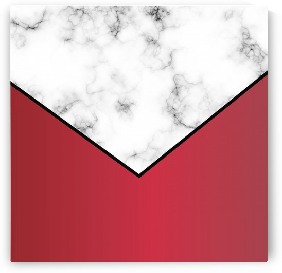 ABSTRACT RED MODERN MARBLE by rizu_designs