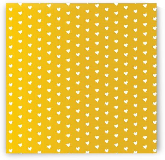 Autumn Yellow Heart Shape Pattern by rizu_designs
