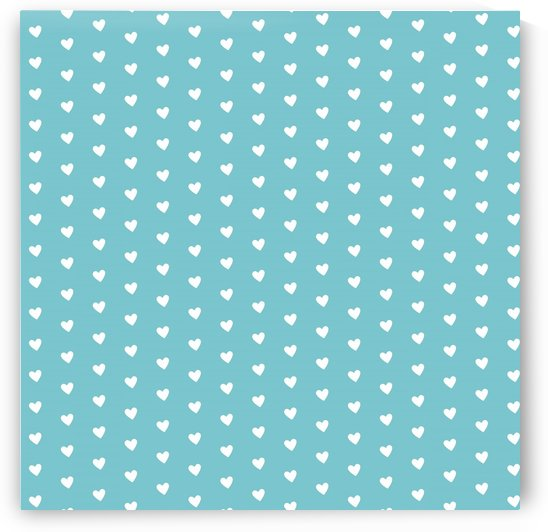 Cadet Blue Heart Shape Pattern by rizu_designs