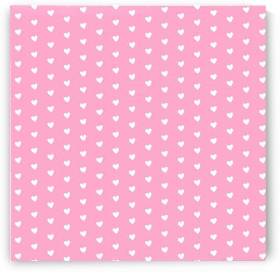 Carnation Pink Heart Shape Pattern by rizu_designs