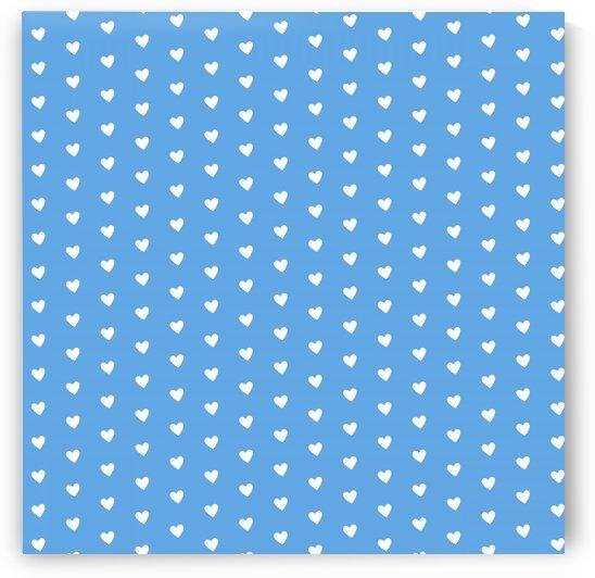 CORNFLOWER Heart Shape Pattern by rizu_designs