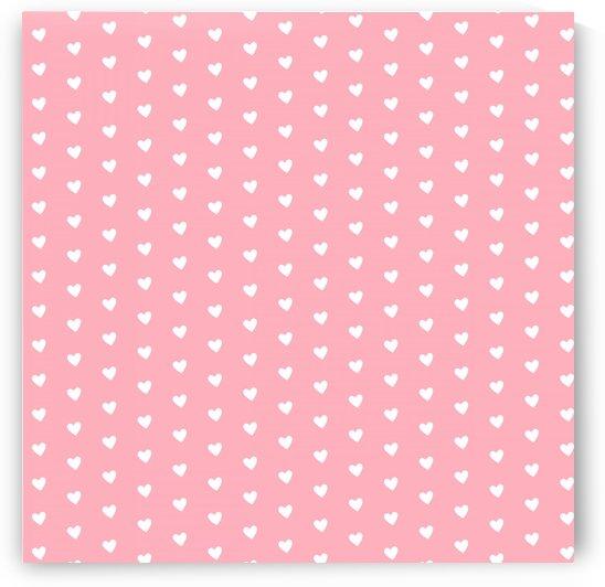 Bitter Pink Heart Shape Pattern by rizu_designs