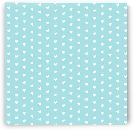 Light Blue Heart Shape Pattern by rizu_designs