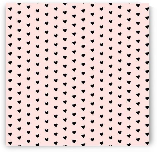 Misty Rose Heart Shape Pattern by rizu_designs