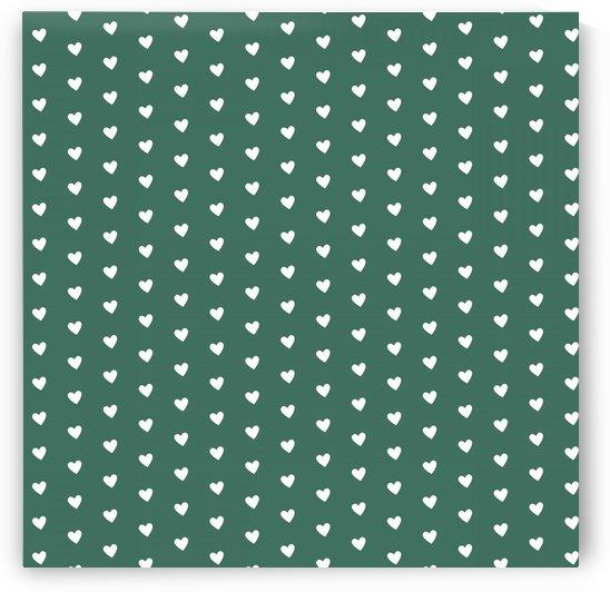 HUNTER GREEN Heart Shape Pattern by rizu_designs