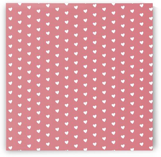 Light Red Heart Shape Pattern by rizu_designs