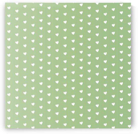 Green Blush Heart Shape Pattern by rizu_designs