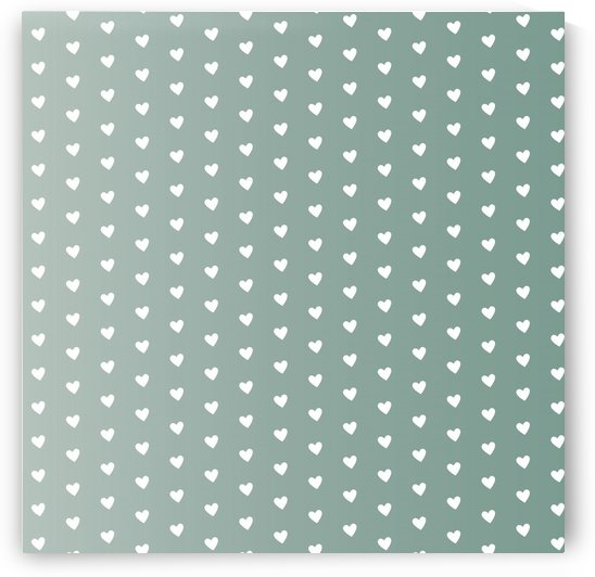 Grey Green Heart Shape Pattern by rizu_designs