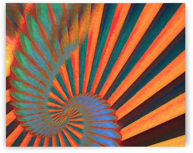 Composition in Orange Blue & Green by Jon Woodhams