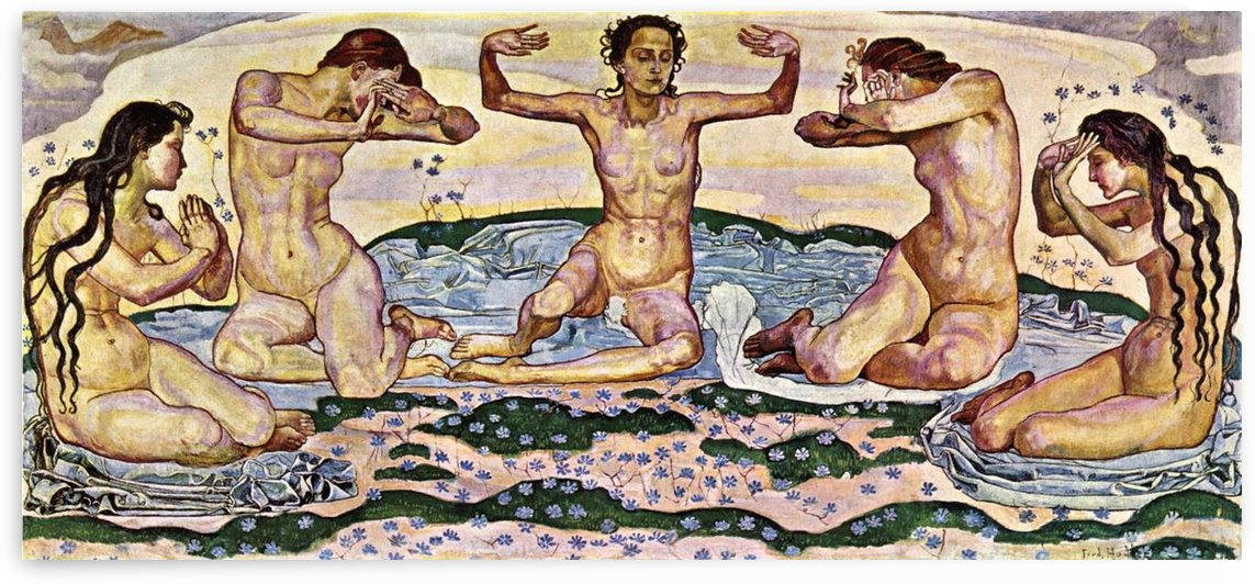 The day by Ferdinand Hodler by Ferdinand Hodler