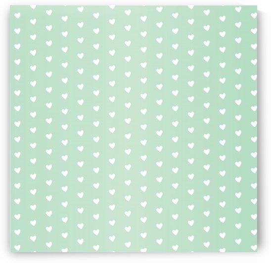 Spring Green Heart Shape Pattern by rizu_designs