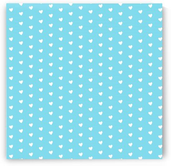 Sky Blue Heart Shape Pattern by rizu_designs