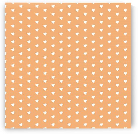 Sandy Brown Heart Shape Pattern by rizu_designs