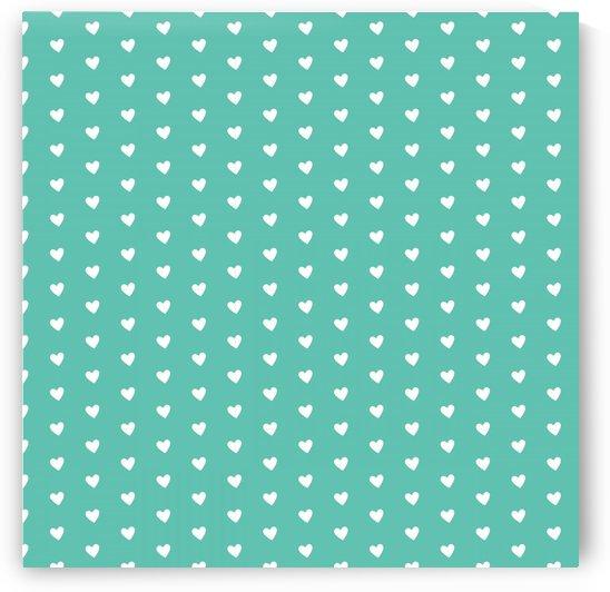 Sweet Green Heart Shape Pattern by rizu_designs