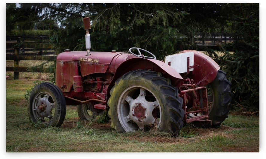 Rusty Old Tractor full by Chloe Denise