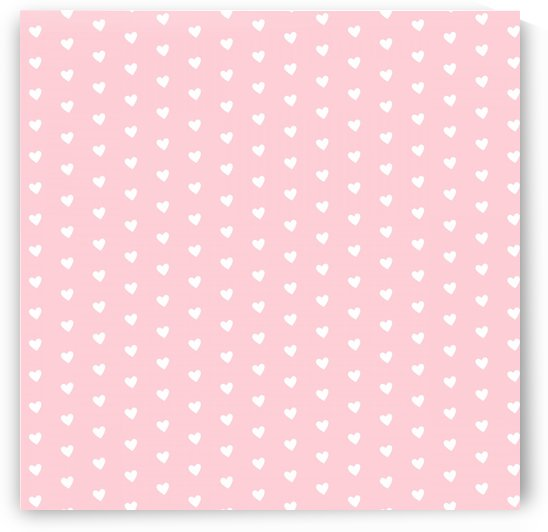 Pink Blush Heart Shape Pattern by rizu_designs