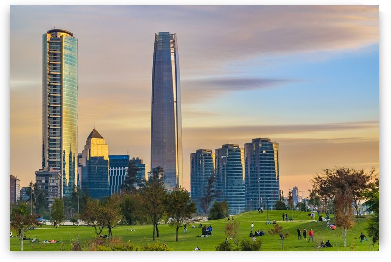 Financial District Buildings, Santiago de Chile by Daniel Ferreia Leites Ciccarino