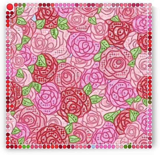 Roses Abstract  by Gabriella David
