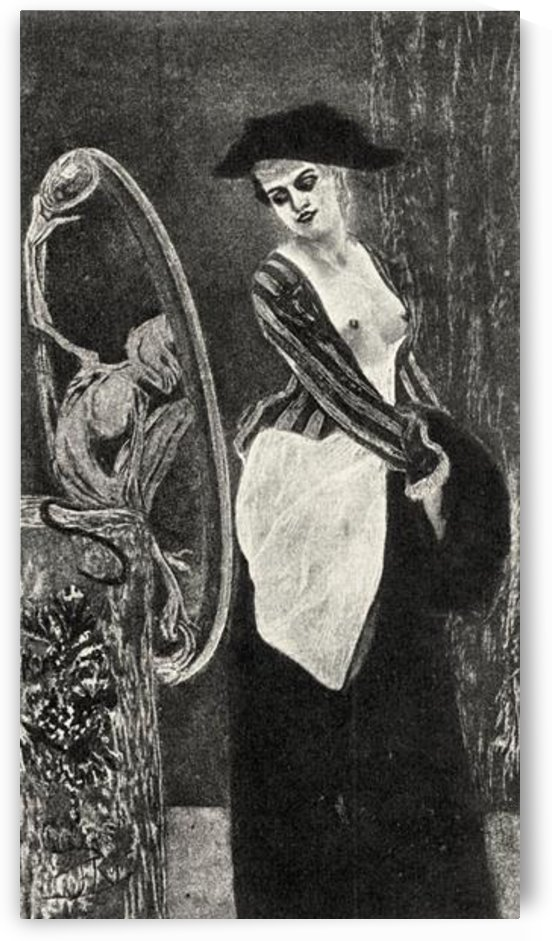 The demon of coquetishness  by Felicien Rops by Felicien Rops