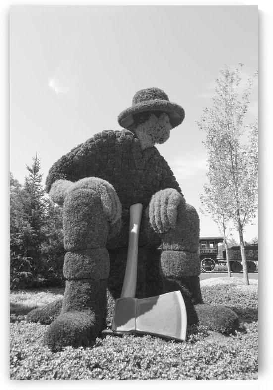The Legend: Big Joe Mufferaw 1 b&w by Bob Corson
