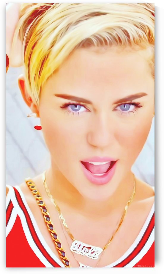 The Star Miley Cyrus by Reyda Ait Bougoulla