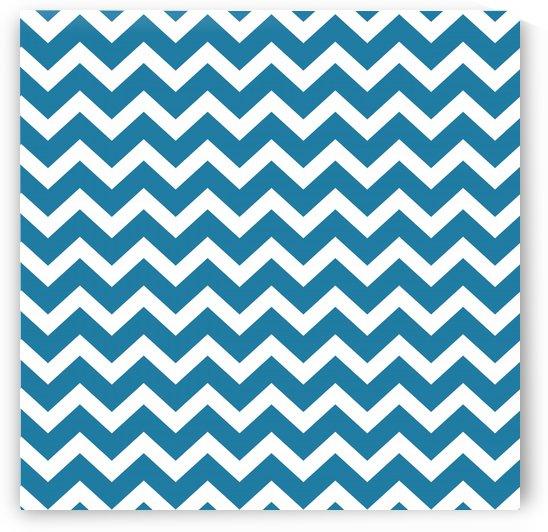 CERULEAN BLUE CHEVRON by rizu_designs