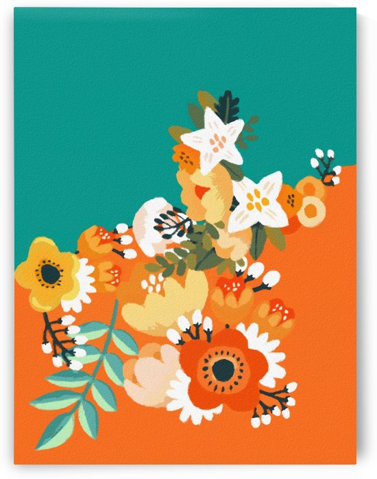 Colorful Floral  by Gabriella David
