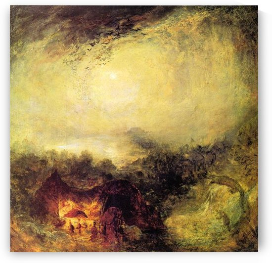 The evening of the tsunami by Joseph Mallord Turner by Joseph Mallord Turner