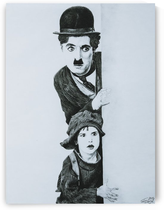 Charlie Chaplin and The Kid by Tpencilartist