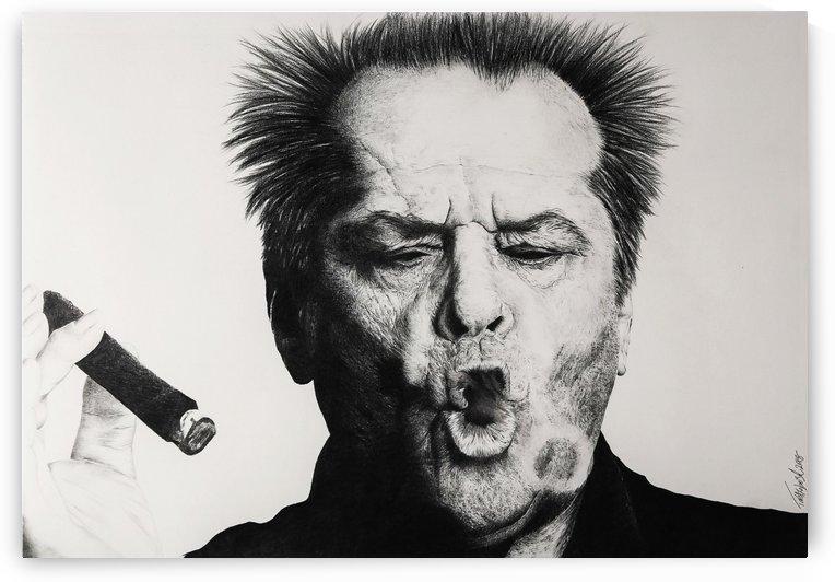 Jack Nicholson and cigar by Tpencilartist
