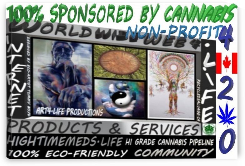 ECO ARTIST TOMMY BOYDWORLD WIDE WEB 4.LIFE WEBSITE BADGE 1 by KING THOMAS MIGUEL BOYD