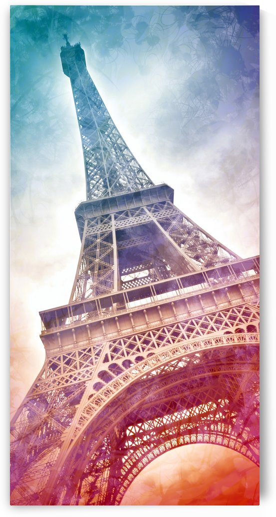 Modern Art Eiffel Tower | Panorama by Melanie Viola