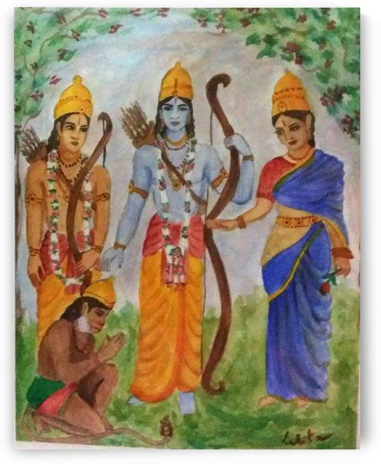 Sita, Ram, et Lakshmane  by lalitavv